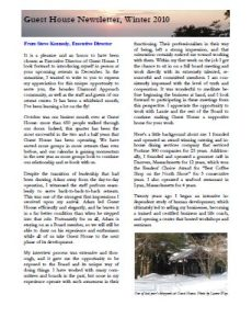 Winter Newsletter 2010