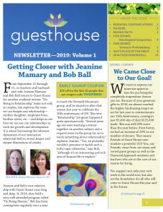 2019 Newsletter - Volume 1